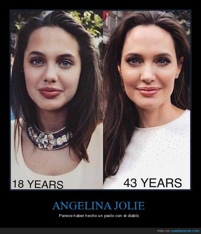angelina jolie,antes,después,edad