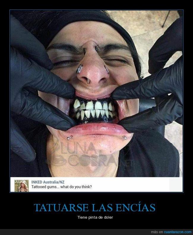 encías,tatuaje,wtf