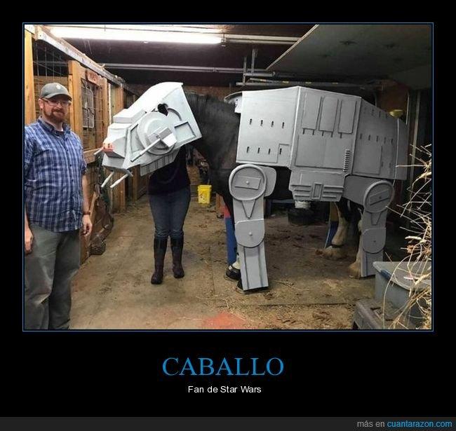 at-at,caballo,disfraz,star wars
