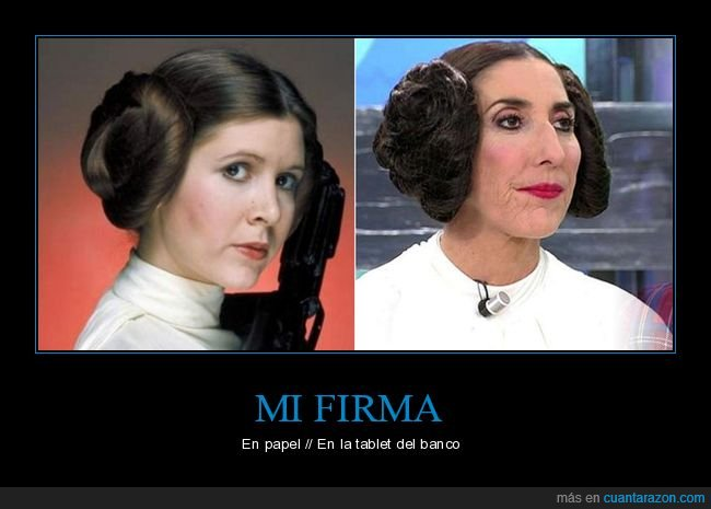 firma,leia,papel,paz padilla,star wars,tablet