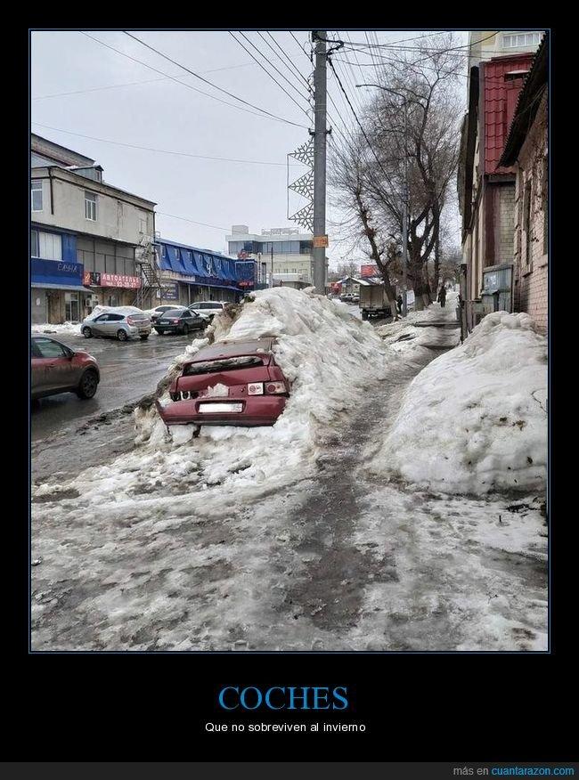 coche,fails,nieve