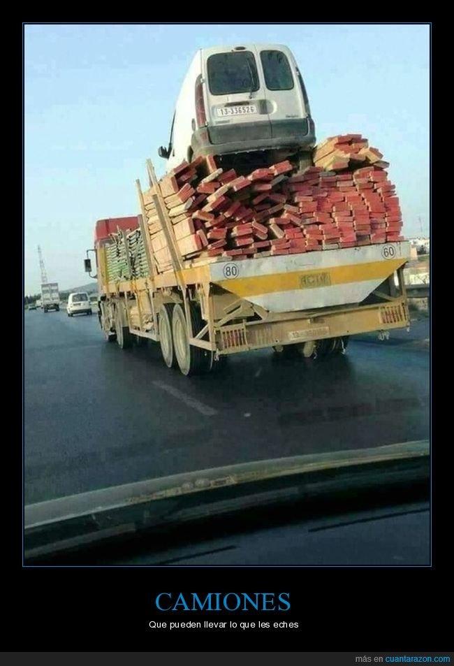 camión,furgoneta,ladrillos,wtf