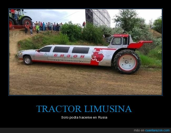 limusina,rusos,tractor