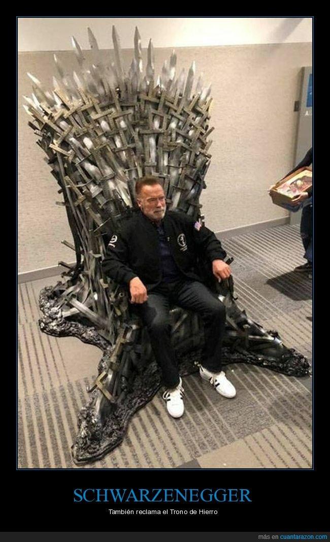 juego de tronos,schwarzenegger,trono de hierro
