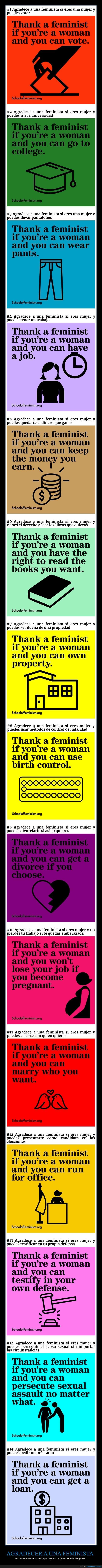 agradecer,feministas