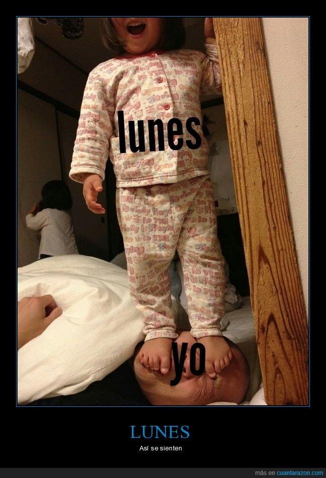 hija,lunes,padre,pisando