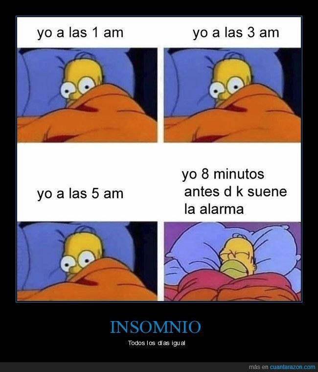 alarma,dormir,homer,insomnio,simpsons