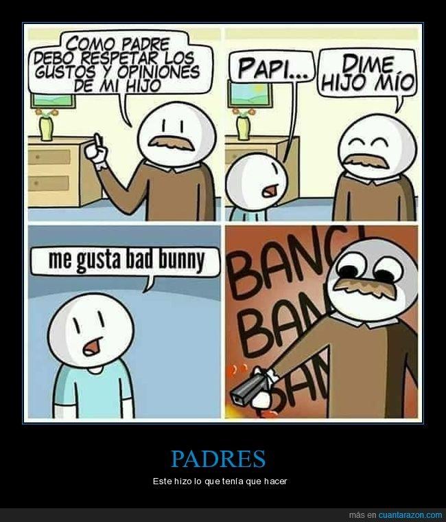bad bunny,hijo,opiniones,padre,respetar