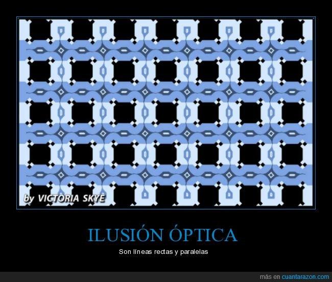 ilusión óptica,líneas,mindfuck,paralelas,rectas