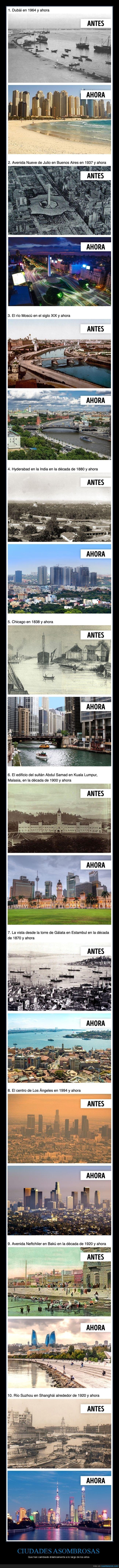 ahora,antes,cambios,ciudades