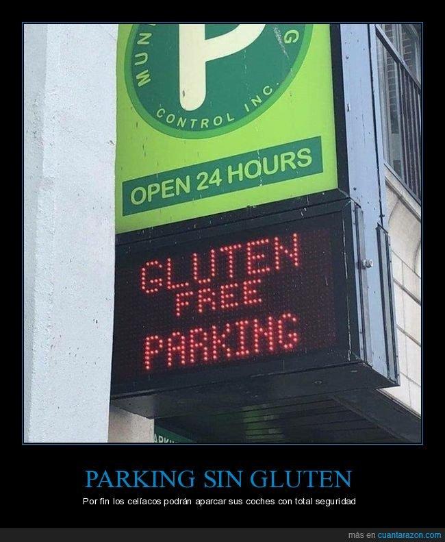 parking,sin gluten,wtf