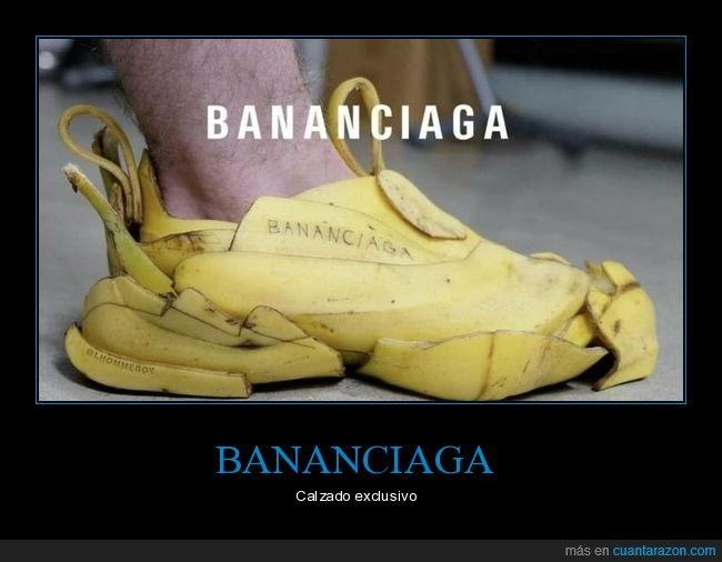 balenciaga,bananciaga,plátano,zapato
