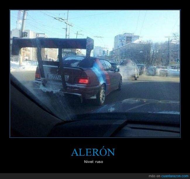 alerón,coche,rusos