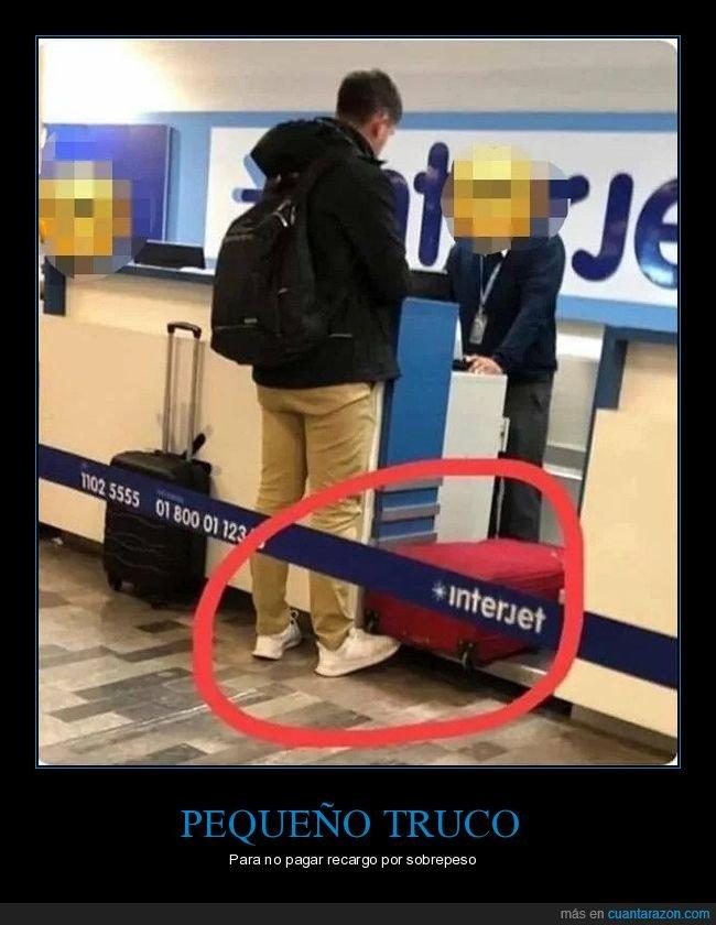 aeropuerto,maleta,peso,pie,wtf