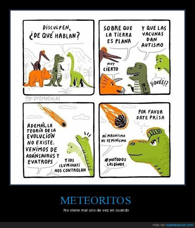 autismo,dinosaurios,meteorito,plana,tierra,vacinas