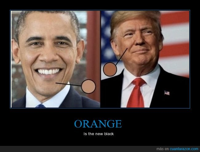 color de piel,donald trump,obama,políticos