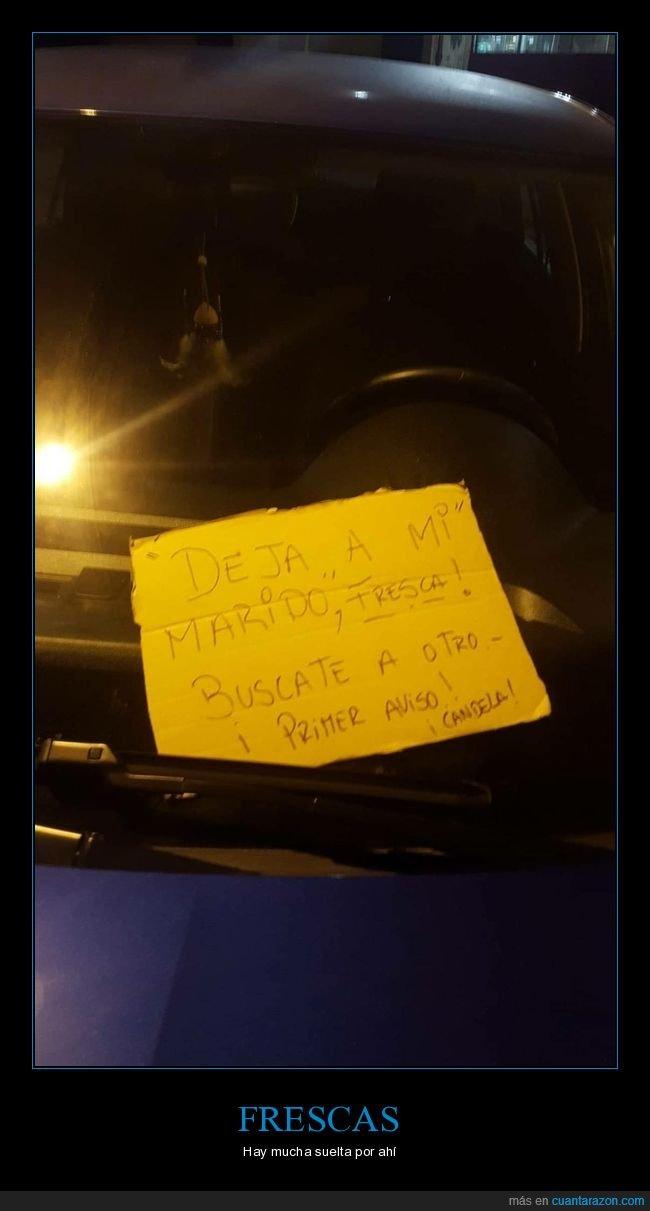 cartel,coche,marido,wtf