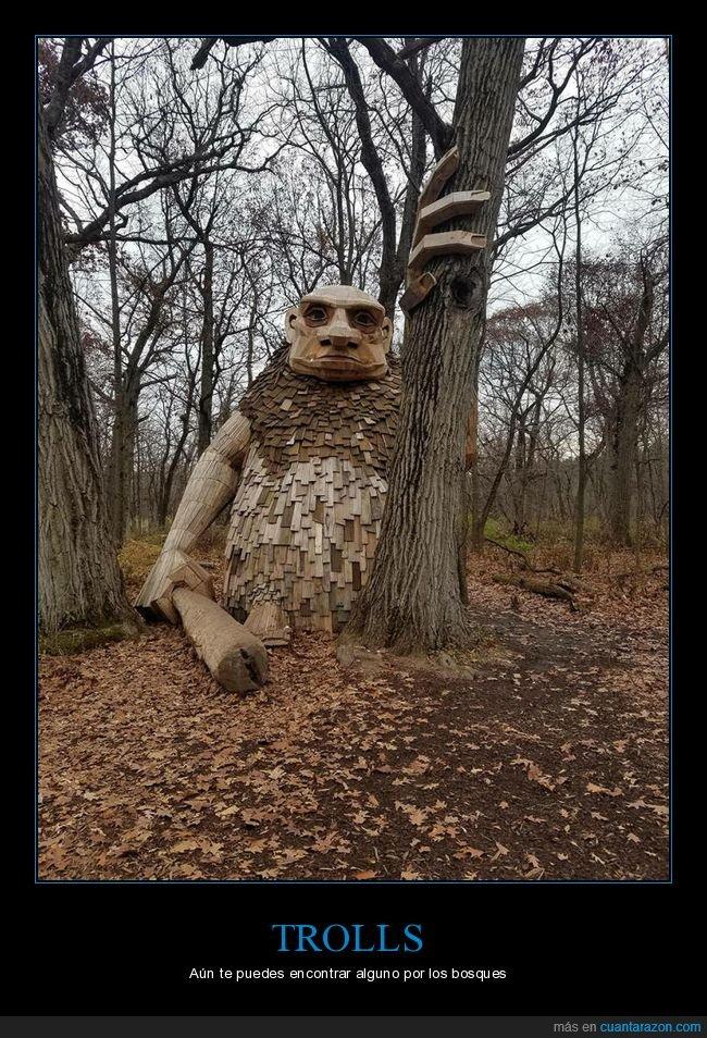 bosque,escultura,troll