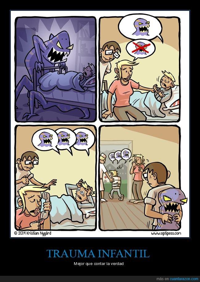 miedo,monstruo,niño,padre,psiquiátrico