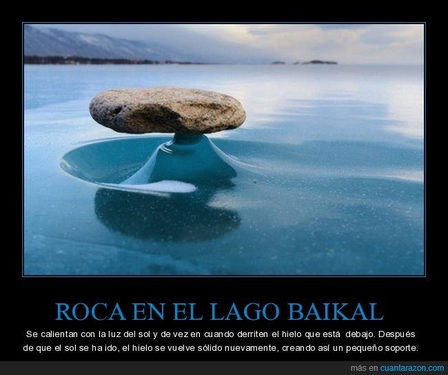 hielo,lago baikal,roca,soporte