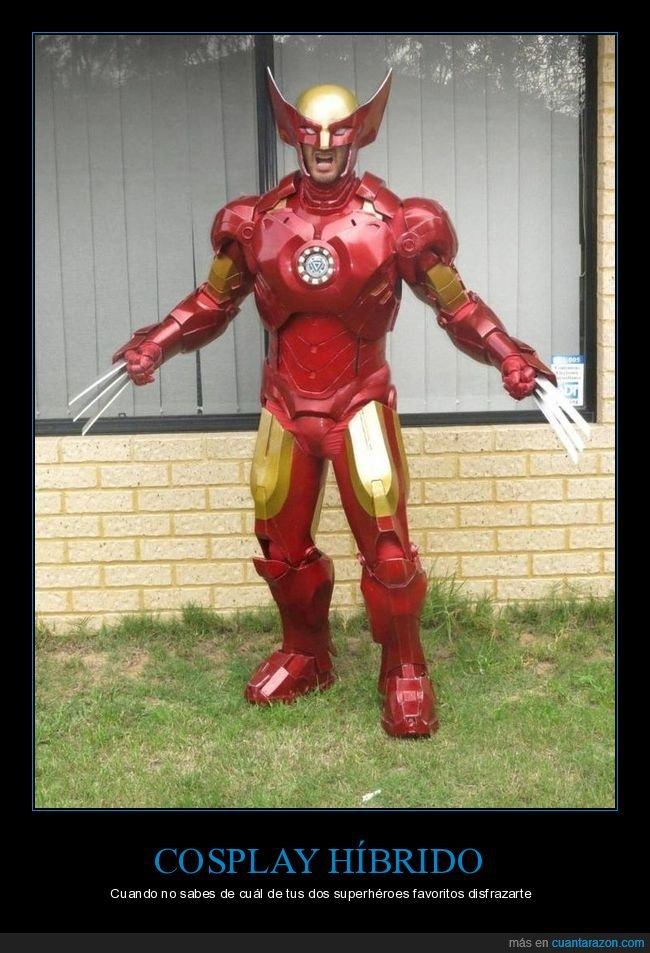 cosplay,disfraz,iron man,lobezno