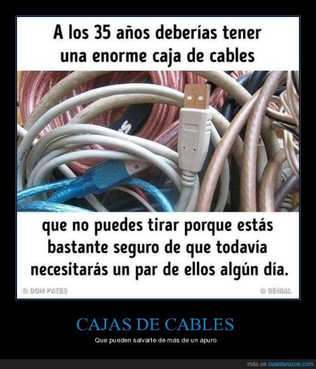 35 años,cables,caja,necesitar,tirar