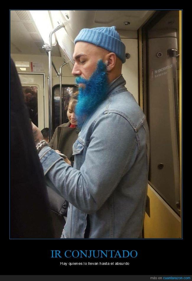 azul,barba,conjuntado,gorro,wtf