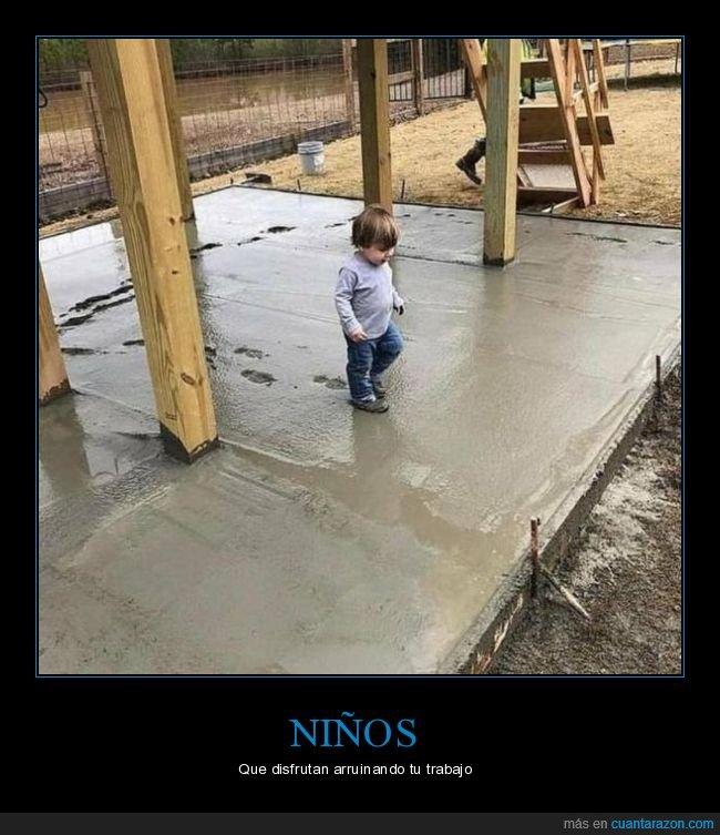 cemento,niño,pisadas,wtf