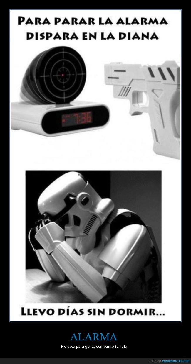 absurdo,alarma,diana,disparar,star wars,stormtrooper