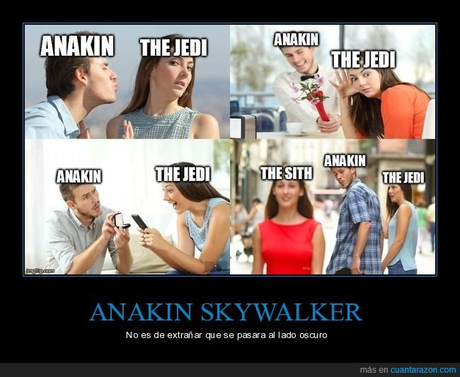 anakin skywalker,distracted guy,jedi,sith,star wars