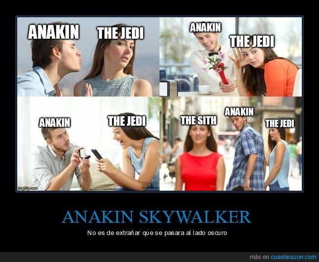 anakin skywalker,distracted guy,jedi,sith,star wars