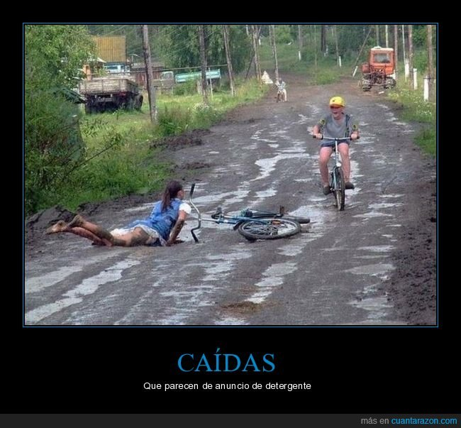 barro,bicicleta,fails