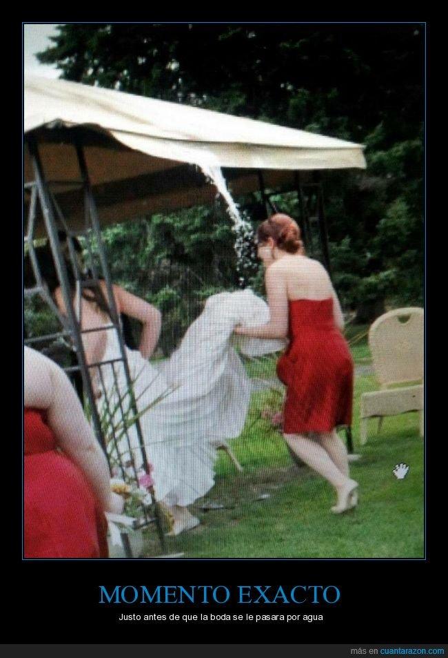 agua,boda,fail,momento exacto