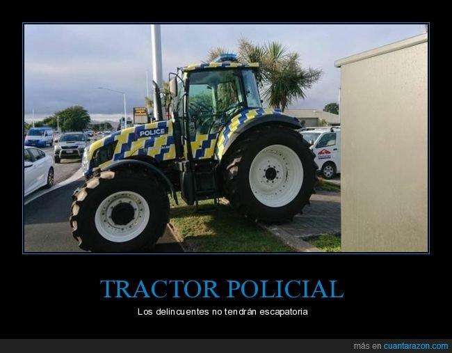 policía,tractor,wtf