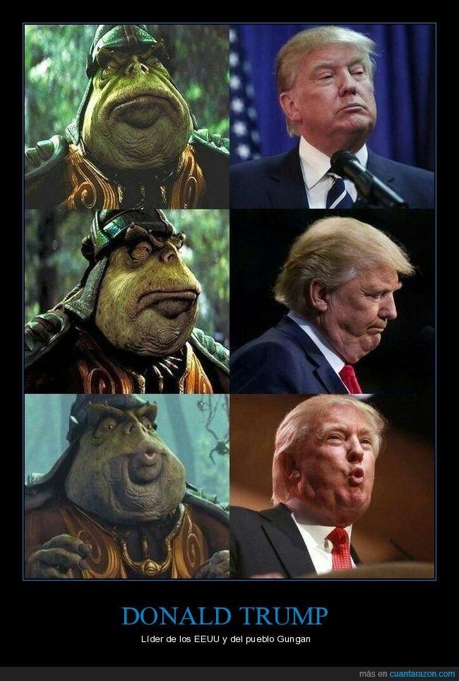 donald trump,parecidos,star wars