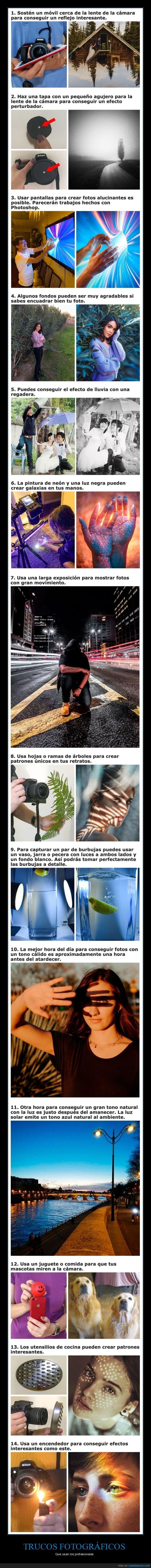 fotografía,trucos