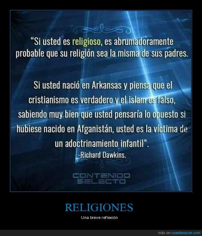 adoctrinamiento infantil,cristianismo,islam,rechard dawkins,religión,religioso