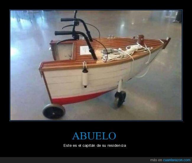 abuelo,andador,asilo,barco,capitán