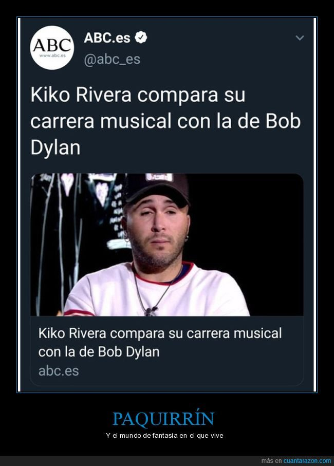 bob dylan,carrera musical,comparar,paquirrín