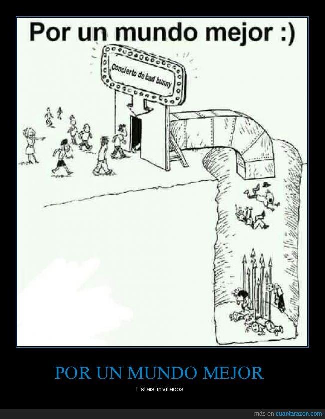 bad bunny,concierto,trampa