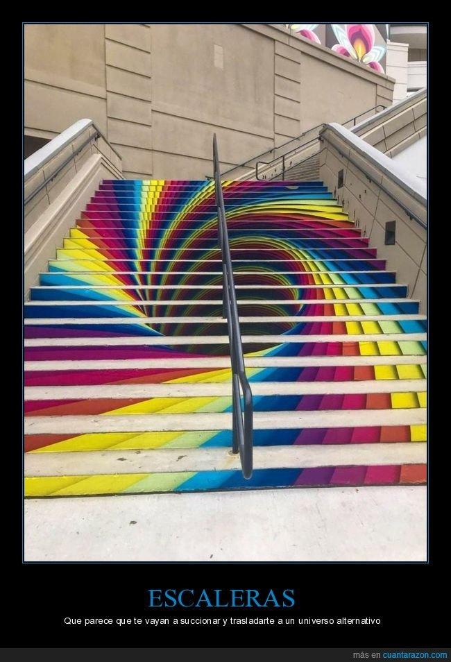 arte urbano,escaleras