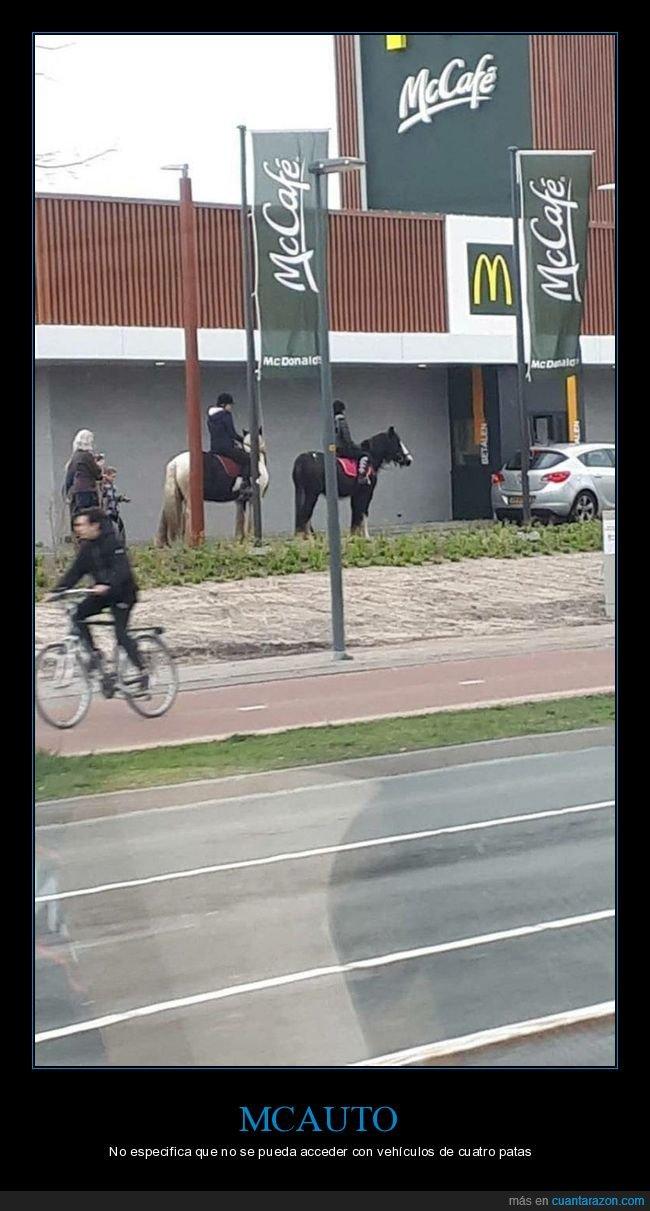 caballos,mcauto,mcdonald's