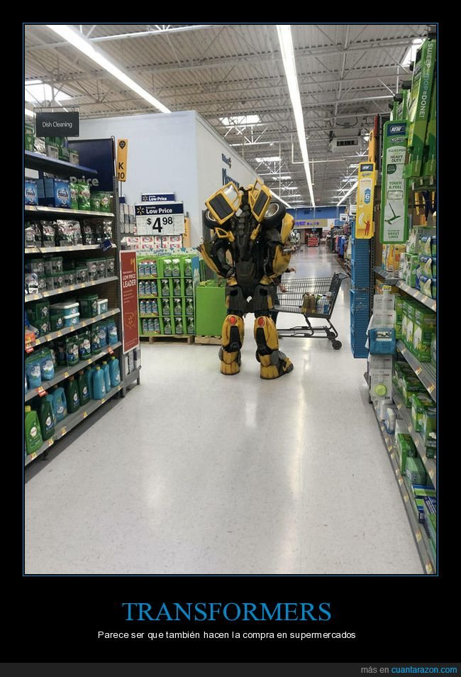 supermercado,transformers,wtf