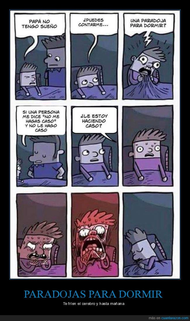 dormir,hijo,padre,paradoja