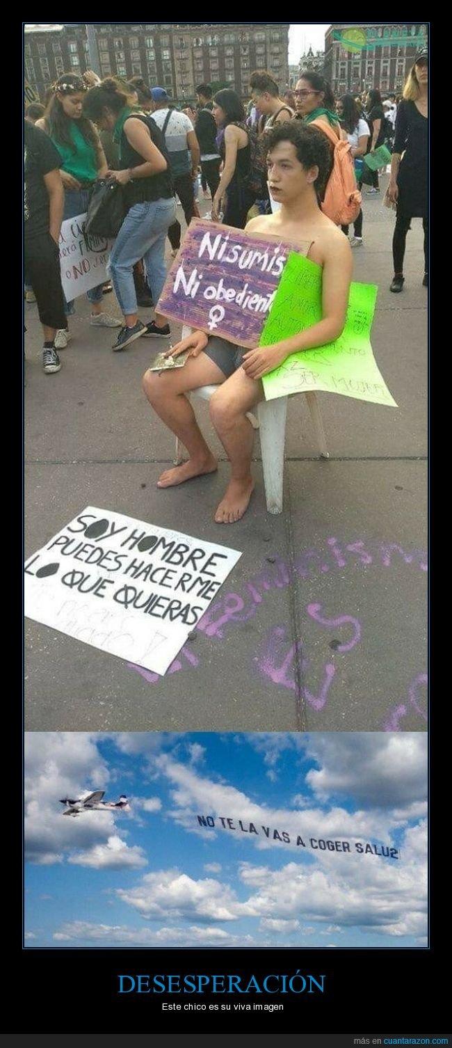 cartel,feminista,hacer,hombre,lo que quieras