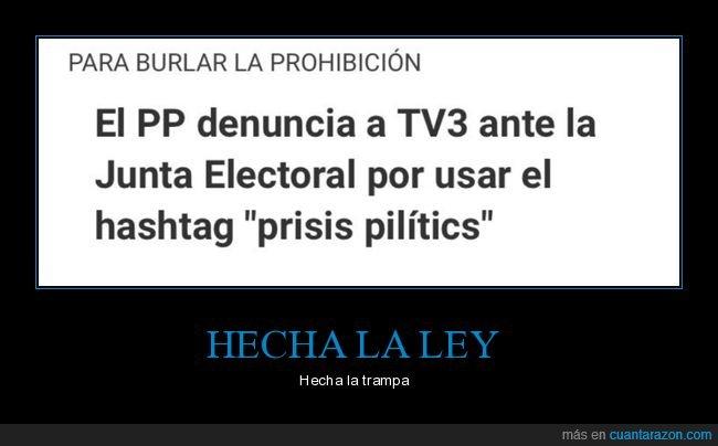 políticos,presos políticos,prisis pilítics,prohibición,tv3