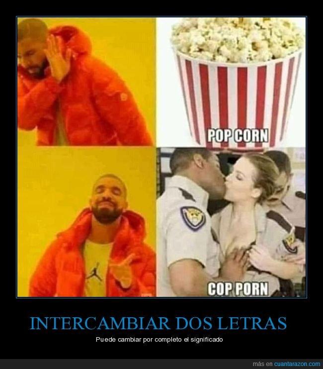 drake,palomitas,policía,pop corn