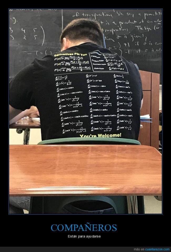 ayuda,camiseta,clase,derivadas