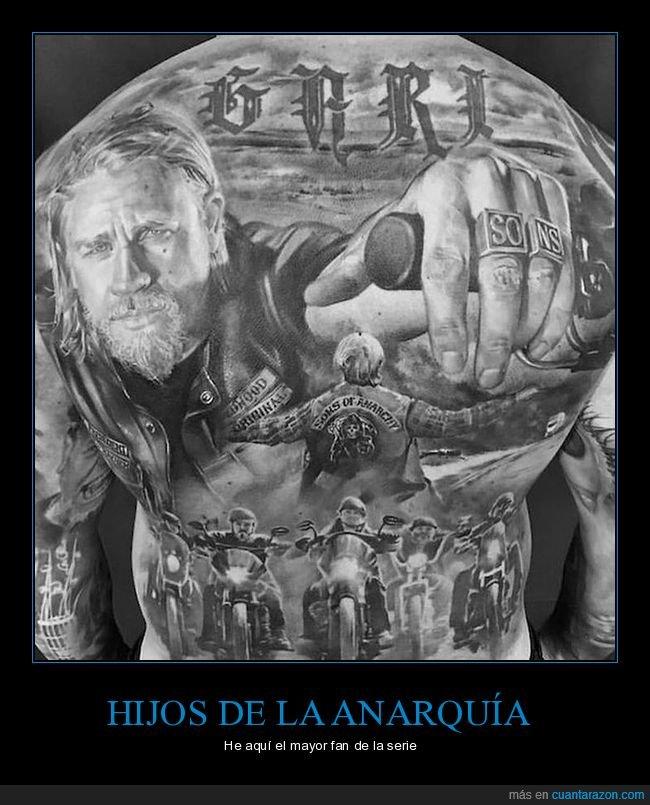 espalda,hijos de la anarquía,sons of anarchy,tatuaje