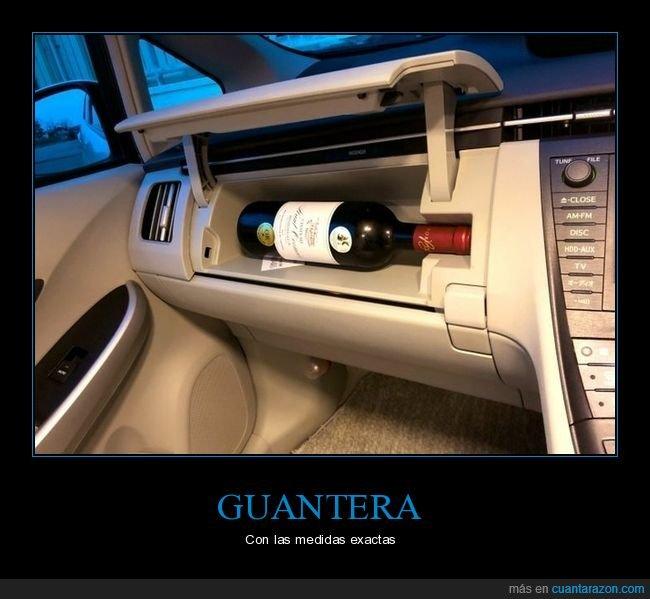 botella,guantera,vino
